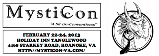 Mysticon science fiction convention in Roanoke, VA