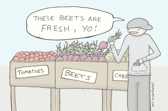 &quot;We Got the Beat&quot;, &quot;Beet It&quot;, anything by the &quot;Beetles&quot; ... the beet eating soundtrack knows no boundaries