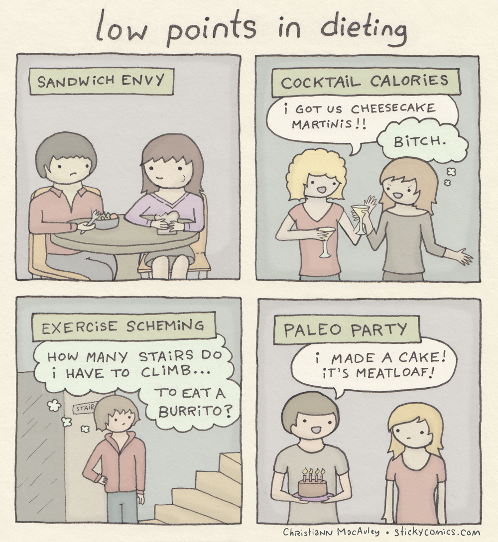 low points in dieting