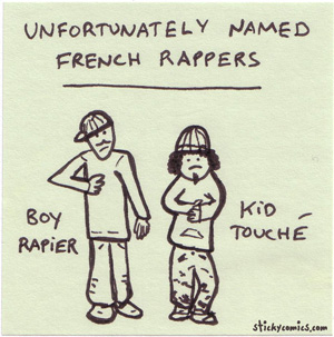 badly named french rappers - boy rapier and kid touché