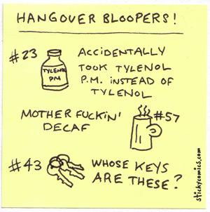 hangover bloopers