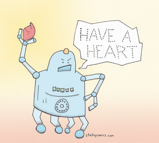 Compassionate robot wants you to have a heart