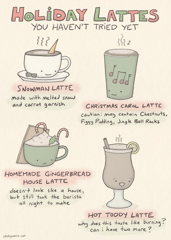 holiday lattes
