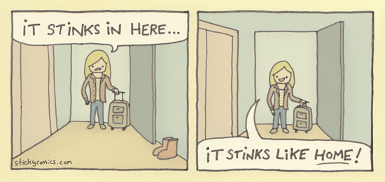There's no stink like home stink