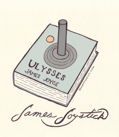 James Joystick - the neo retro James Joyce gaming accessory
