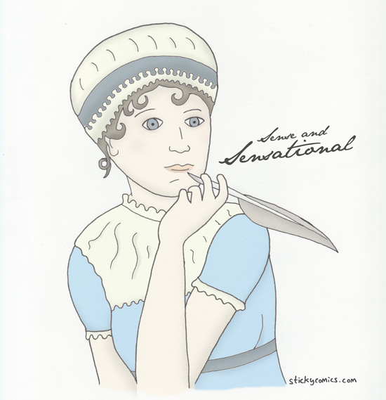 It is a truth universally acknowledged that Jane Austen was a very hip lady