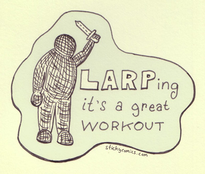 LARPing - it's a great workout!
