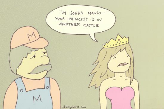 Mario and Princess Peach have an important talk ...