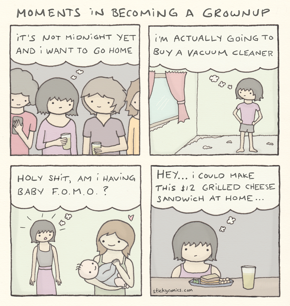 Moments in becoming a grownup