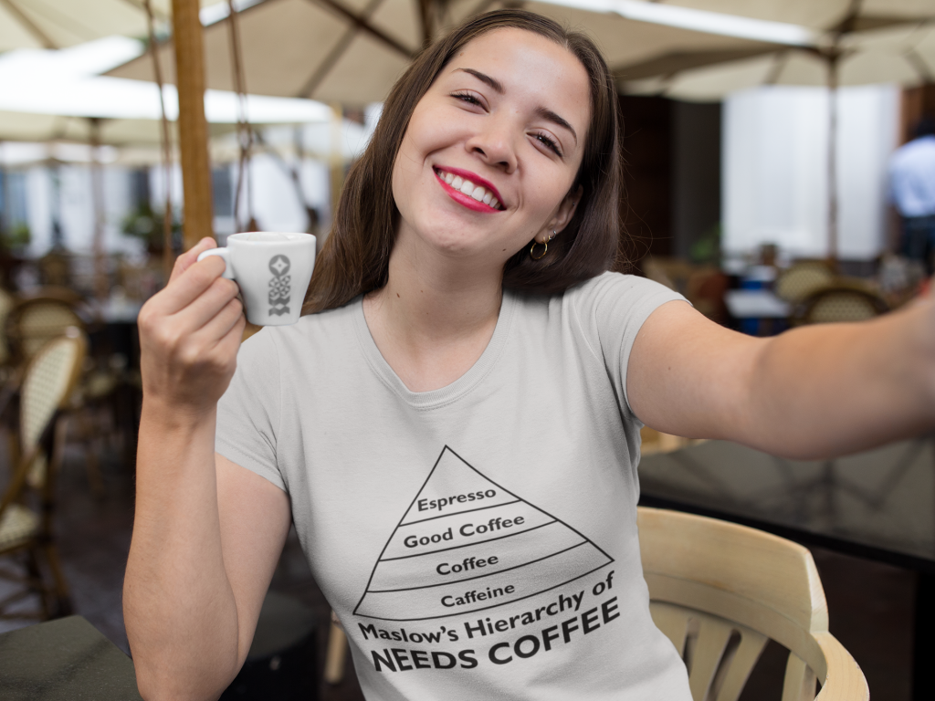 Maslow's Hierarchy of Needs Coffee T-Shirt