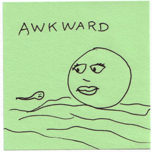 sperm meets egg ... um, awkward!