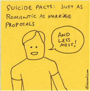 suicide pacts vs. marriage proposals