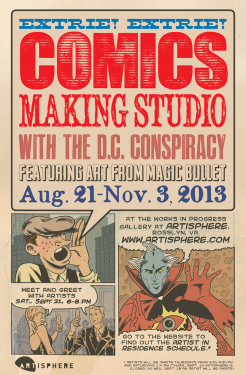 DC Conspiracy art show at Artisphere