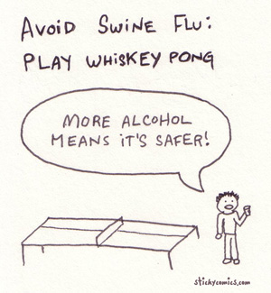 whiskey pong - it&#039;s more sanitary than beer pong