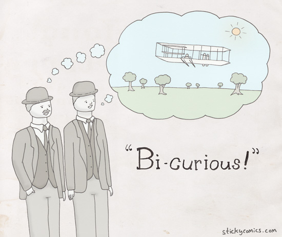 Wright Brothers are bi-curious