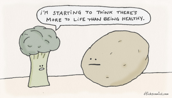 broccoli and potato talk about life