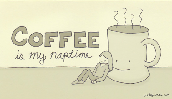 Coffee: It's a little like sleep, but it tastes better and makes you poop