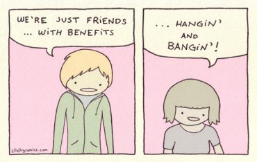 """Actually, even people in committed relationships can """"hang and bang."""" Just write it on your significant other's calendar one Sunday afternoon."""