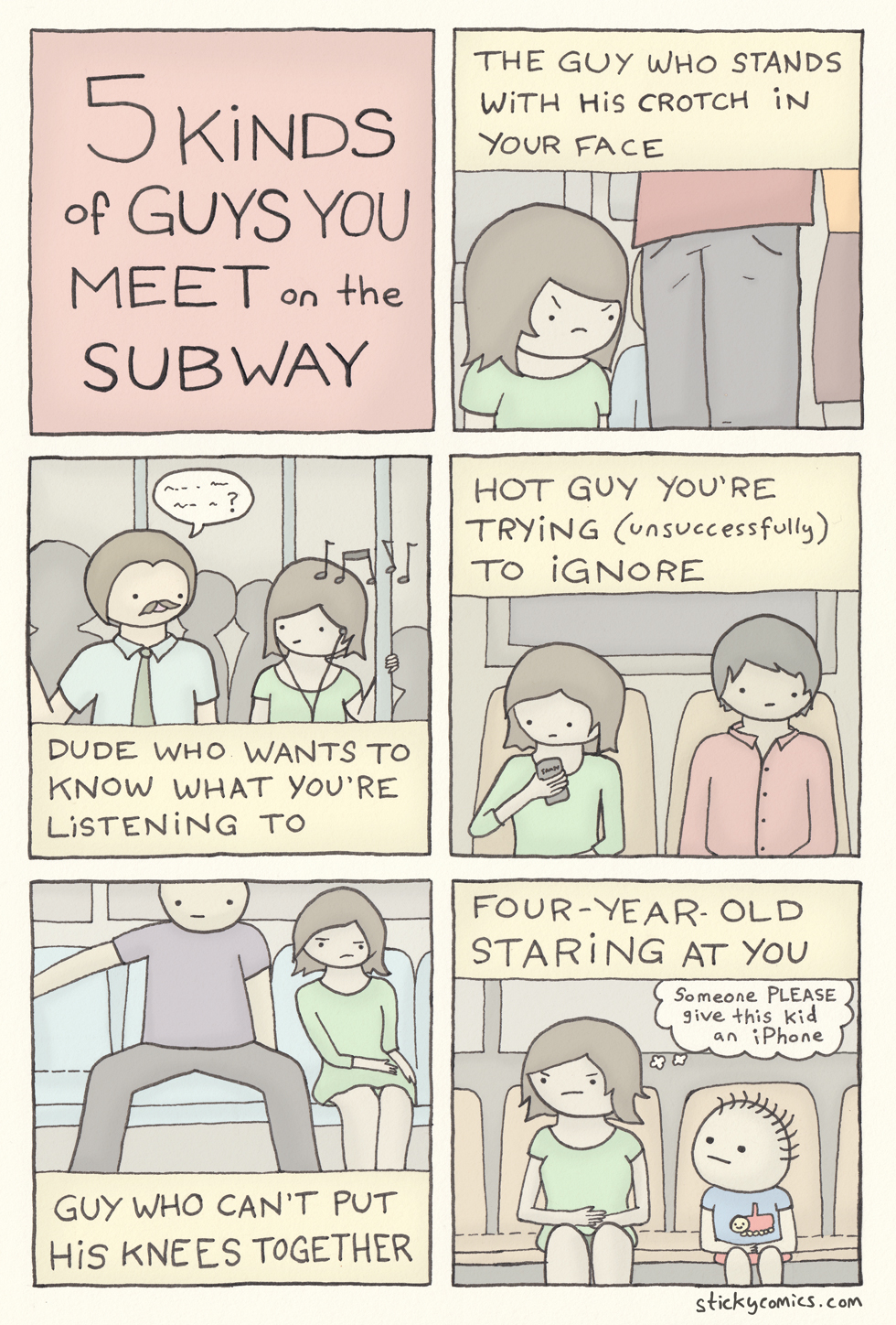 5 kinds of guys you meet on the subway
