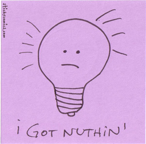 lil lightbulb is outta ideas.
