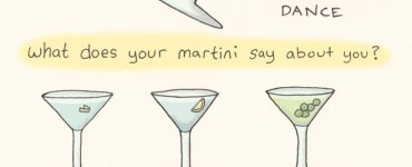 "what does your martini say about you? other than ""hey, I can hold a saucer full of booze without spilling!"" of course..."