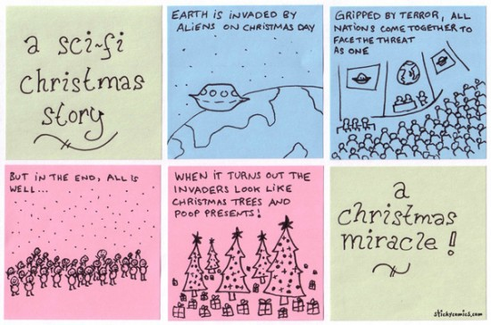 it's a sci-fi Christmas