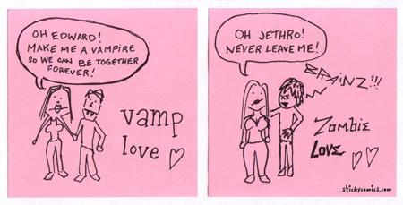 vampire love vs. zombie love