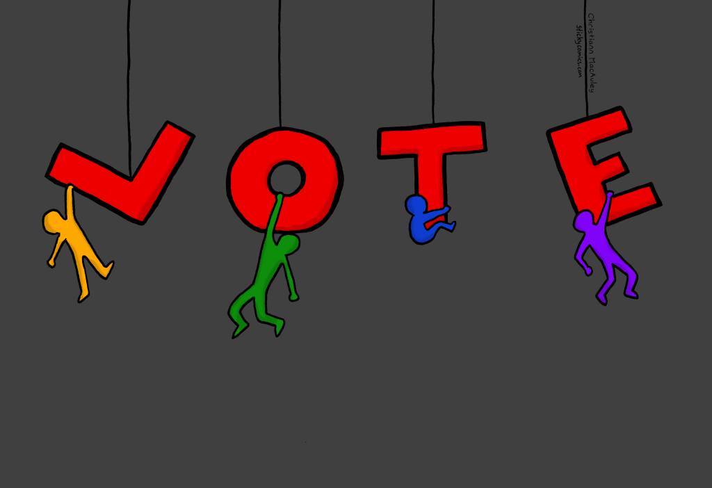 Vote. People are hanging onto the letters.