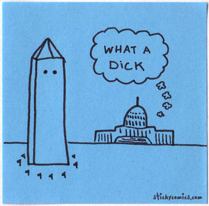washington monument - what a dick