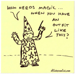 who needs magic when you have an outfit like this?