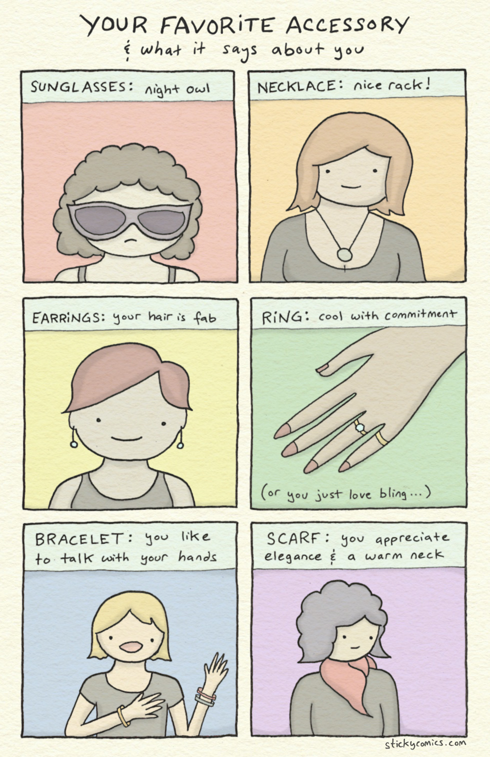 what does your favorite accessory say about you?